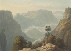 View from the top of the Bore Ghaut, drawn in 1803